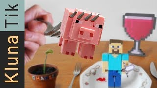MINECRAFT FOR DINNER!!   |#43 KLUNATIK COMPILATION    ASMR eating sounds no talk