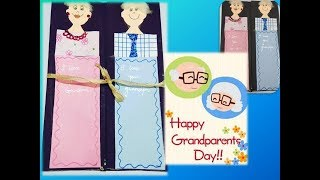 Happy Grandparent's Day Handmade Card / Wishes and greetings