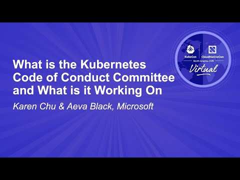 Image thumbnail for talk What is the Kubernetes Code of Conduct Committee and What is it Working On