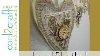 Aleenes Layered Fabric Hearts On Hanger By Tiffany Windsor