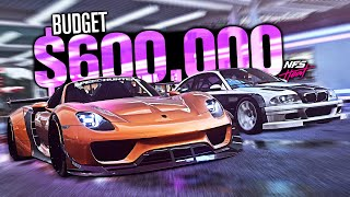 Need for Speed HEAT - $600,000 Budget Build! (Porsche 918 & BMW M3 GTR )