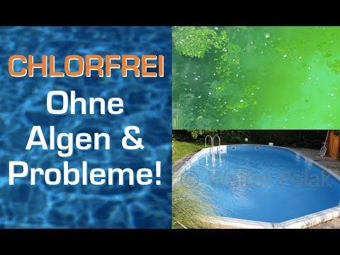 Nie mehr Chlor / Chlortabletten und Algen im Pool! Problemlos chlorfrei baden