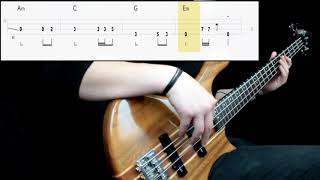 Metallica   Fade To Black (Bass Cover) (Play Along Tabs In Video)