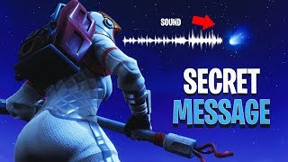 *SOLVED* SECRET METEOR SOUND MESSAGE - Fortnite Tilted Towers Comet