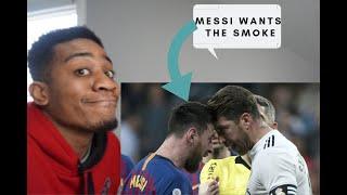 Barcelona Vs Real  Madrid Highlights Reaction!  Lionel Messi Vs Sergio Ramos Fight El Classico