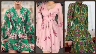Trendy New Summer Floral Mini Dresses Tops And Blouses Designs (2019/2020)