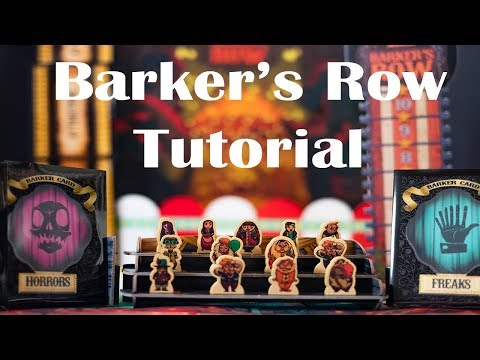 Circus-Themed Board Game! Barker's Row Tutorial