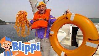 Blippi Explores Boats For Kids   Educational Videos For Children