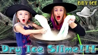 Witches Make DRY ICE SLIME! Ultimate Sub Zero Challenge!!! How to DIY