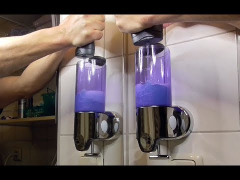 Wall Mounted Soap Dispenser Seifenspender Unboxing Montage Test