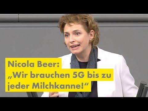 """Nicola Beer: """"Wir brauchen 5G bis zu jeder Milchkanne!"""""""