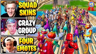 Streamers Host SQUADS Skin Contest | Fortnite Daily Funny Moments Ep.528
