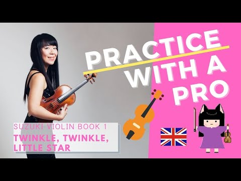 Try practicing with me on the first song of Suzuki Violin Book 1!