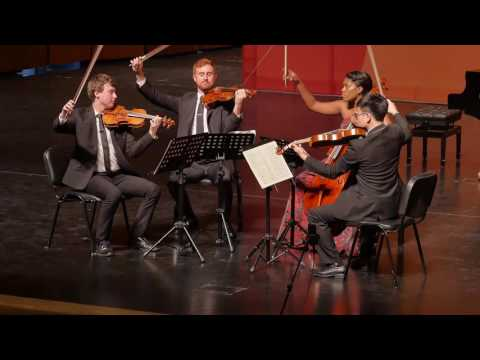 This is a video from Schoenfeld International Competition, where the Yas quartet, in which I'm currently the first violinist, won 3rd prize
