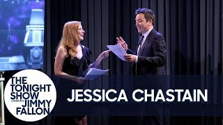 Jessica Chastain Shows Jimmy What It's Like to Play the Female Role