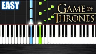 Game Of Thrones Theme - EASY Piano Tutorial by PlutaX - Synthesia