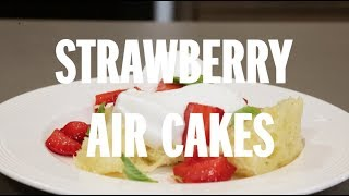 How to make strawberry air cake with vanilla cream