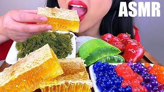 MOST POPULAR FOODS FOR ASMR (HONEYCOMB, ALOE VERA, TANGHULU, SEAGRAPES, POPPING BOBA) ASMR Phan