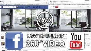 How to Upload 360 VR Video on Facebook & Youtube Post _ 360 Panorama Rendering Tutorial _ Part 3