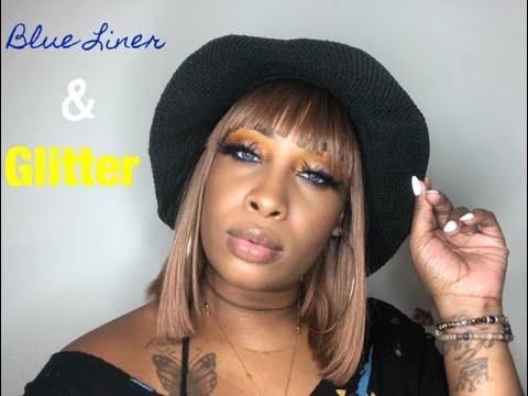 Blue Liner & Glitter