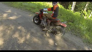 Dirt bikes, no tools....no problem!  Rocks and trees work fine!  PowerModz!
