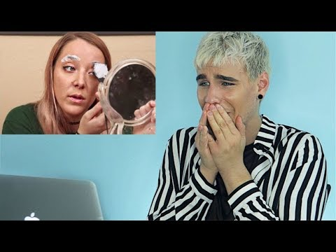 HAIRDRESSER REACTS TO JENNA MARBLES BLEACHING HER EYEBROWS FAIL! | bradmondo