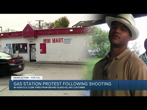 Shooting at gas station leads to protest