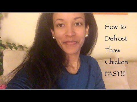 Defrost Thaw Frozen Chicken FAST!!!