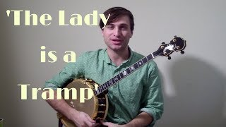 'The Lady is a Tramp' played on Solo Jazz Tenor Banjo (CGDA Tuning)