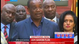 News Centre - 26th May 2017 - Governor Kidero announces ODM's planned activities