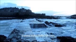 preview picture of video 'Grandes marées Saint-Malo Samedi 1er Février 2014'
