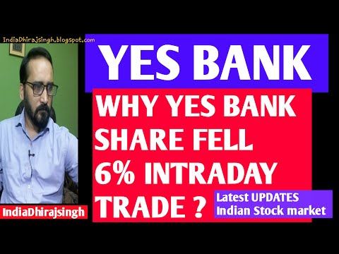 WHY YES BANK SHARES FELL 6% INTRADAY TRADE ? INDIAN STOCK MARKET