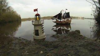 Piratenkampfschiff versenkt, Playmobil Boot mit RC Fernbedienung