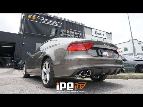 The iPE exhaust for Audi A7 C7