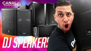 Shopping for (NEW) DJ Speakers | Speaker Demos (EV, DAS, QSC, JBL)