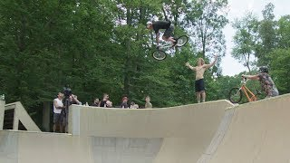 Throwing Down in the Skatepark at the Polaris Invitational