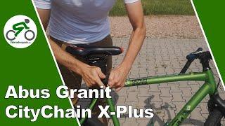 Abus Granit CityChain X-Plus - Details, Abschließen & Bolzenschneider