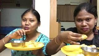 Pani Puri Challenge With My Sister || Pani Puri Challenge In Telugu || Family Fun