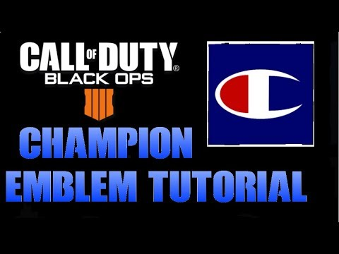 EASY CHAMPIONS EMBLEM TUTORIAL | Call Of Duty Black Ops 4