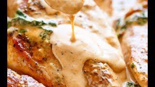 Chicken With Creamy Sun Dried Tomato Parmesan Sauce