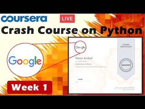 Crash Course on Python Coursera Week 1- Full solved | Google IT ...