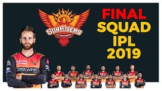 Sunrisers Hyderabad Team | Complete List Of SRH Team With Photos | SRH Team 2019