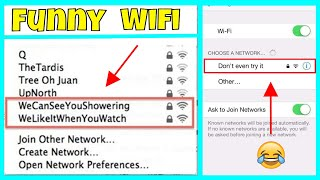The Funniest Wifi Names