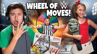 MYSTERY WHEEL OF WRESTLING!!! We WRECK the WWE Performance Center!