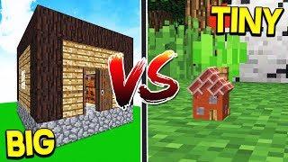 World S Biggest House Vs Smallest House Minecraft Minecraftvideos Tv
