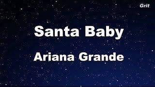 Santa Baby - Ariana Grande Karaoke【Guide Melody】