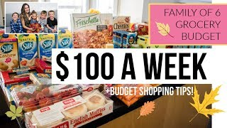 Family of 6 $100 Weekly Grocery Budget / Grocery Haul