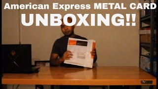 American Express Credit Card Unboxing.  MUST WATCH!!