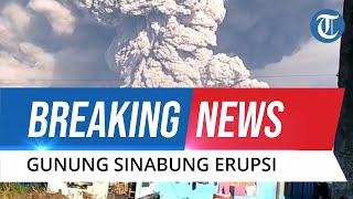 BREAKING NEWS: Gunung Sinabung Erupsi dan Luncurkan Awan Panas, Begini Penampakan Hujan Abunya