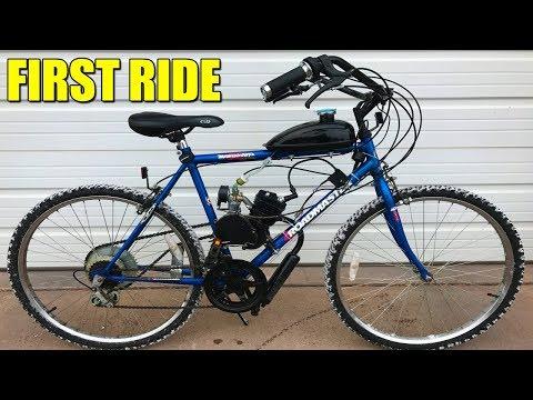 80cc Motorized Bike! First Time Riding